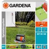 GARDENA Complete set met verzonken zwenksproeier OS 140 (8221-20) sprinklersysteem Zwart/antraciet