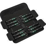 Wera Kraftform 12SB1 Micro-schroevendraaierset Zwart/groen, Voor elektrische apparaten