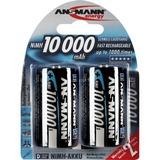 Ansmann NiMh Professional Mono D HR20 oplaadbare batterij Zilver, 10000 mAH