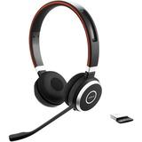 Jabra Evolve 65 MS Stereo headset Zwart/zilver