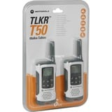 Motorola Walkie Talkie TLKR T50 walkie-talkie Wit/grijs