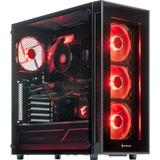 ALTERNATE Gamer RED Starter GTX 1660 Ti pc-systeem 16 GB, Gb-LAN, Windows 10
