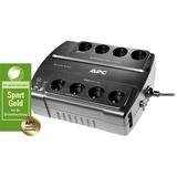 APC Back-UPS 550VA noodstroomvoeding Zwart, 8x schuko uitgang, USB, BE550G-GR, Retail