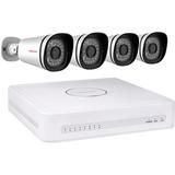 Foscam 8 Kanal NVR 1TB + 4x 720p Kameras beveiligingscamera PoE, LAN, 1.0 Megapixel (1280x720)