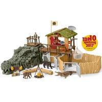 Schleich Croco Jungle Onderzoeksbasiskamp, speelgoedfiguur 42350