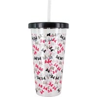 Paladone Disney: Minnie Mouse Cup and Straw beker Transparant