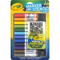 Crayola Mini viltstiften en sjablonenset blauw tekenen