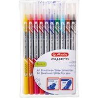 Herlitz Fineliner my.pen Etui 10 kleuren stift