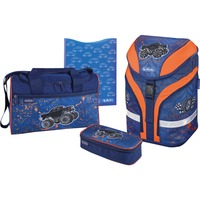 Herlitz Motion Plus Monster Truck schooltas Blauw/oranje