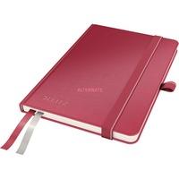 Leitz Complete Notitieboek A6 gelijnd met harde kaft Rood