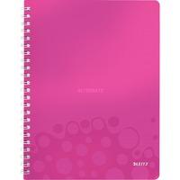 Leitz WOW Notitieboek A4 gelijnd Pink, spiraalgebonden met PP kaft