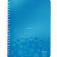 Leitz WOW Notitieboek A4 gelijnd Blauw, spiraalgebonden met PP kaft