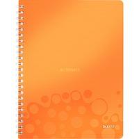 Leitz WOW Notitieboek A4 gelijnd Oranje, spiraalgebonden met PP kaft