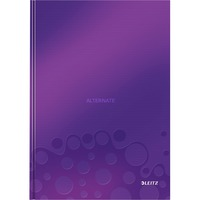 Leitz WOW Notitieboek A4 gelijnd met harde kaft Paars