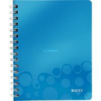 Leitz WOW Notitieboek A5 gelijnd Blauw, spiraalgebonden met PP kaft