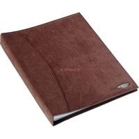 Rexel Soft Touch Displayboek Suede Bruin, A4, 36 hoezen