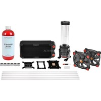 Thermaltake Pacific RL240 D5 Hard Tube Water Cooling Kit waterkoeling Zwart/rood, 3-pin aansluiting