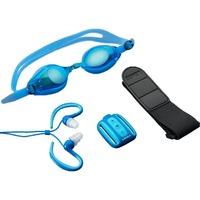 Lenco XEMIO-1000 Waterproof MP3 speler mp3-speler Blauw, incl. duikbril