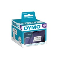 Dymo LW verzend- en naambadge-etiketten, 54 mm x 101 mm printlint Wit