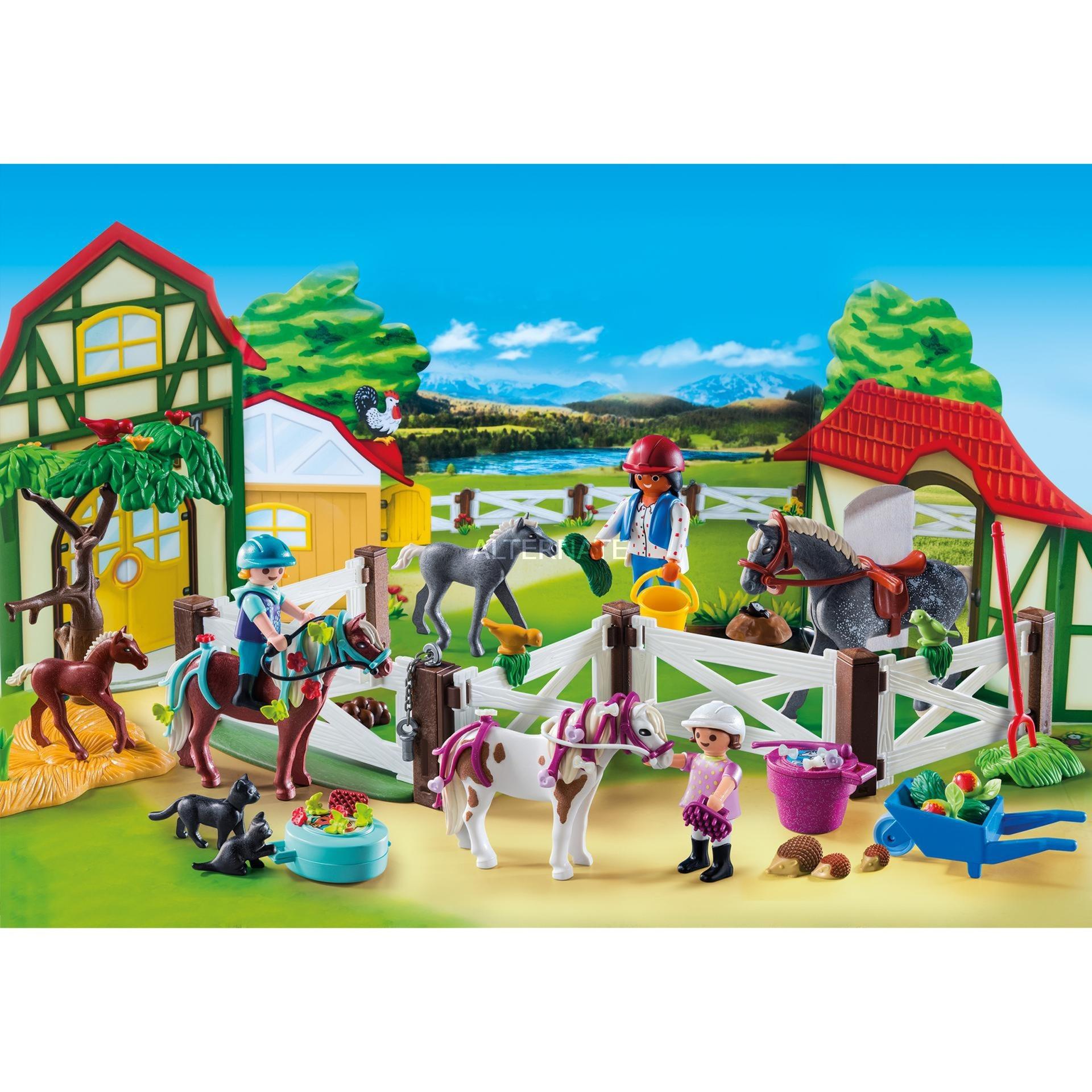Playmobil Weihnachtskalender.Adventskalender Paardrijclub 9262